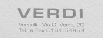 Logo Verdi abbigliamento a Vercelli